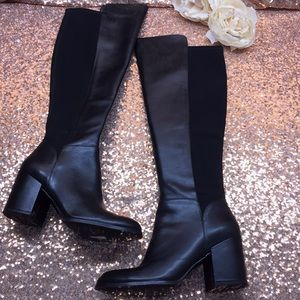 Marc Fisher Black Tall Boots